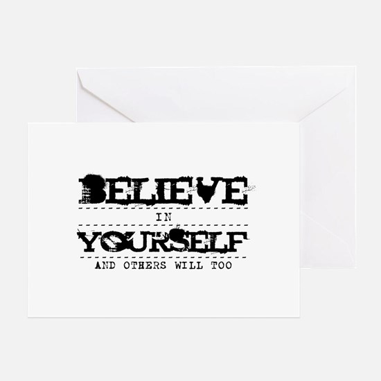 Believe in Yourself V2 Greeting Card