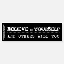 Believe in Yourself V2 Sticker (Bumper)