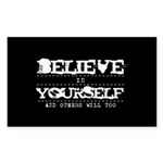 Believe in Yourself V2 Sticker (Rectangle)