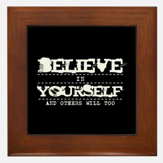 Believe in Yourself V2 Framed Tile