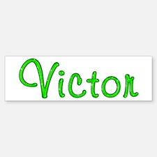 Victor Glitter Gel Bumper Bumper Bumper Sticker
