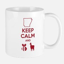 "Bielema Arkansas Razorback ""BeeLlama"" Red Text Mug"