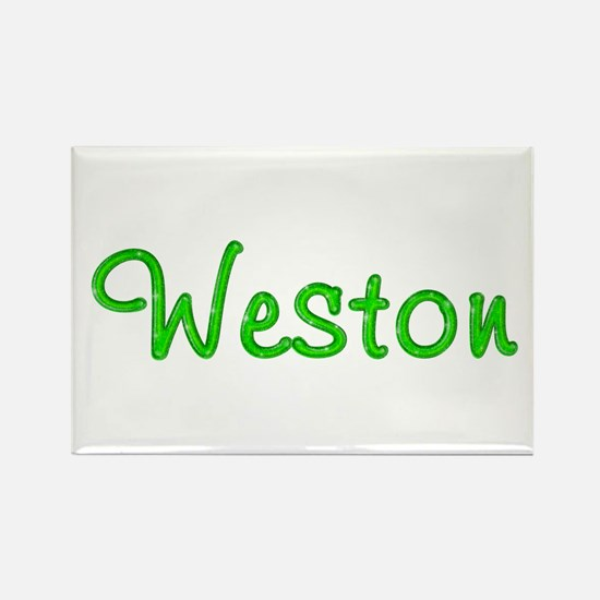 Weston Glitter Gel Rectangle Magnet