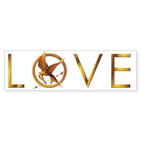 Mockingjay LOVE Bumper Sticker
