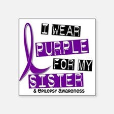 I Wear Purple 37 Epilepsy Sticker