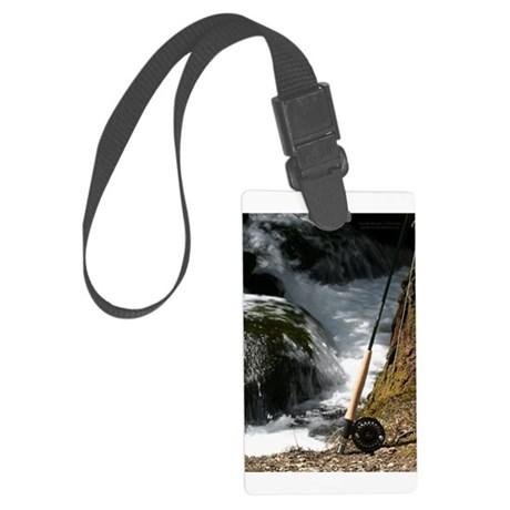 Fly fishing rod luggage tag by fishingrodphoto for Fly fishing luggage