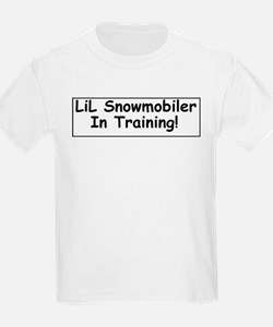 LiL Snowmobiler In Training!  Kids T-Shirt