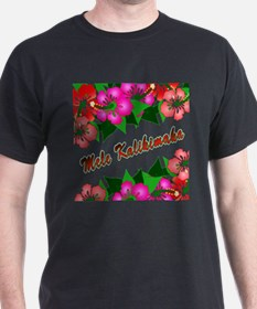 Mele Kalikimaka with flowers T-Shirt