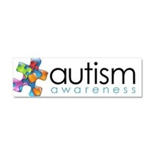 Unique Autistic advocacy Car Magnet 10 x 3