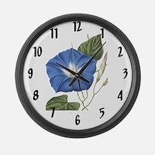 Vintage Morning Glory Large Wall Clock