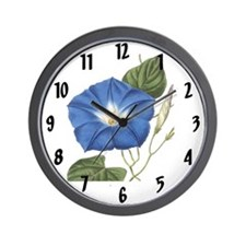 Vintage Morning Glory Wall Clock