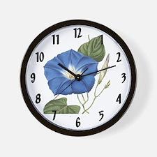 Vintage Morning Glory Wall Clock