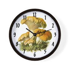 Vinatge MUshroom Print Wall Clock