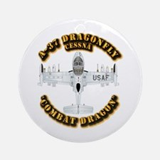 A-37 Dragonfly Ornament (Round)