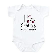 I Love Roller Skating Infant Bodysuit