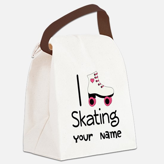 I Love Roller Skating Canvas Lunch Bag