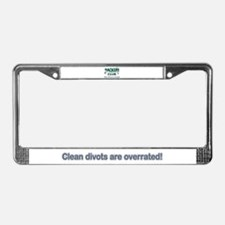 Clean Divots are Overrated License Plate Frame