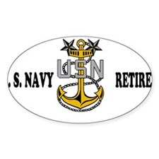 Retired Navy Master Chief Decal