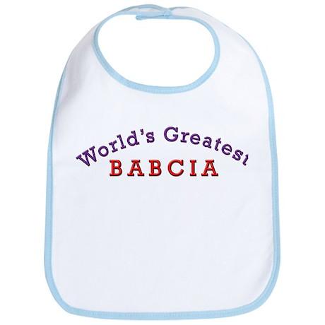 Worlds Greatest Babcia Bib