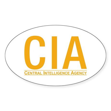 CIA CIA CIA Oval Sticker