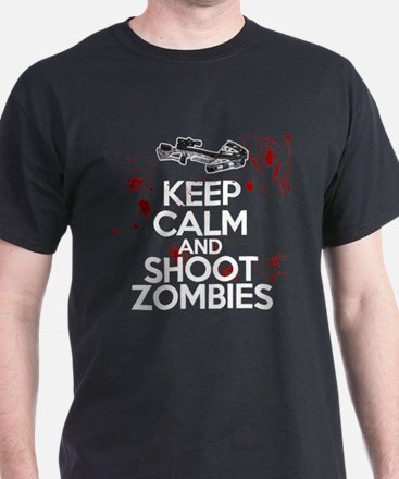 Keep Calm and Shoot Zombies with Crossbows T-Shirt