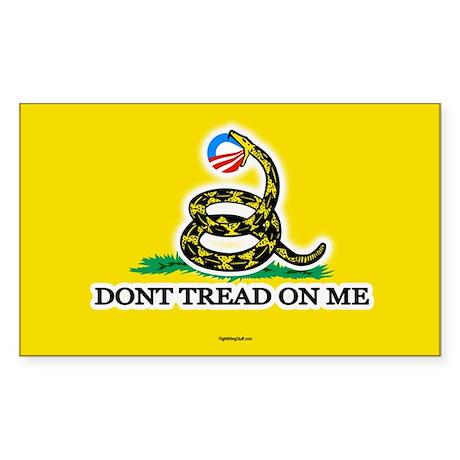 Gadsden Strikes Obama Logo Oval Sticker