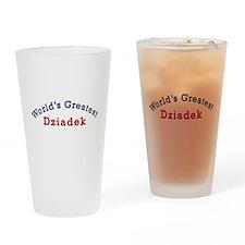 Worlds Greatest Dziadek Drinking Glass