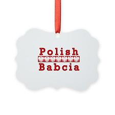 Polish Babcia Eagles Ornament