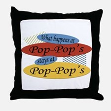 What Happens At Pop-Pop's Throw Pillow
