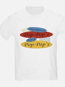 What Happens At Pop-Pop's Kids T-Shirt