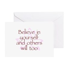 Believe in Yourself V1 Greeting Card