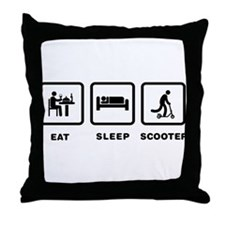 Scooter Riding Throw Pillow