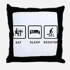 Scooter Riding Throw Pillow