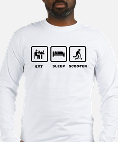 Scooter Riding Long Sleeve T-Shirt