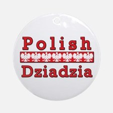 Polish Dziadzia Eagles Ornament (Round)