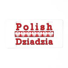 Polish Dziadzia Eagles Aluminum License Plate