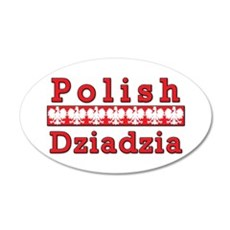 Polish Dziadzia Eagles 35x21 Oval Wall Decal