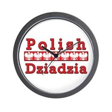 Polish Dziadzia Eagles Wall Clock