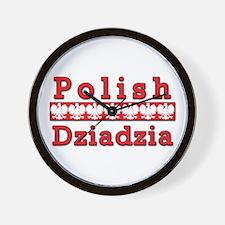 Polish Dziadzia Eagles Wall Clock