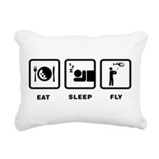 RC Helicopter Rectangular Canvas Pillow