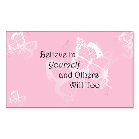Believe in Yourself Sticker (Rectangle)