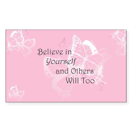 Believe in Yourself Sticker (Rectangle 50 pk)