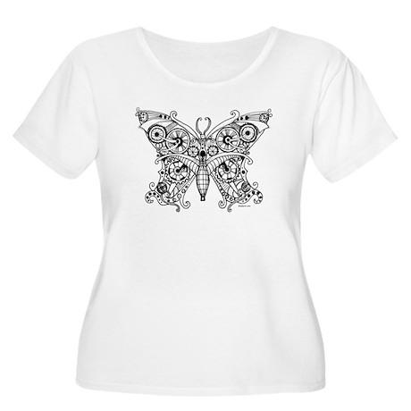 Steampunk Butterfly Women's Plus Size Scoop Neck T