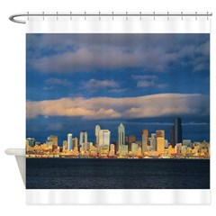Seattle Cityscape Shower Curtain