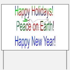 Happy Holidays Yard Sign