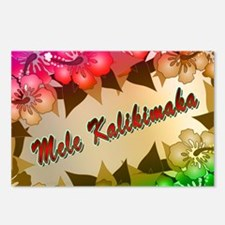 Mele Kalikimaka with flowers Postcards (Package of