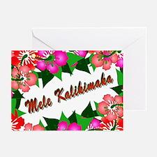 Mele Kalikimaka with flowers Greeting Cards (Pk of