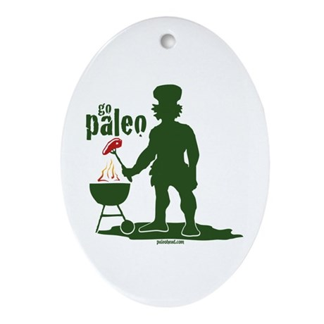 Paleo BBQ Ornament (Oval)