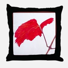 Red Grape Leaf Throw Pillow