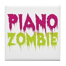 Piano Zombie Tile Coaster